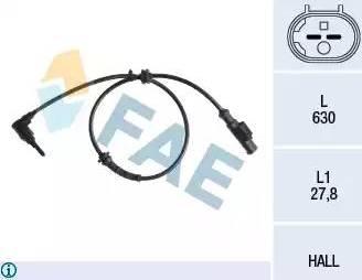 FAE 78241 - Sensor, revoluciones de la rueda superrecambios.com