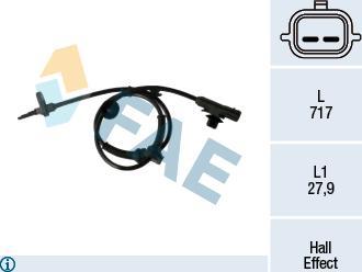 FAE 78268 - Sensor, revoluciones de la rueda superrecambios.com
