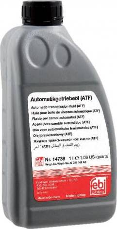 Febi Bilstein 14738 - Aceite para transmisión automática superrecambios.com