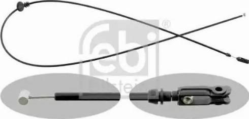 Febi Bilstein 15174 - Cable del capó del motor superrecambios.com