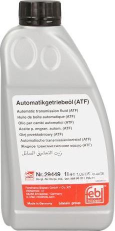 Febi Bilstein 29449 - Aceite para transmisión automática superrecambios.com