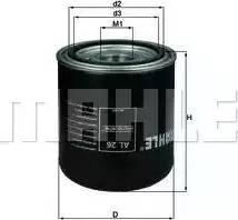 Mahle Original AL26 - Cartucho del secador de aire, sistema de aire comprimido superrecambios.com