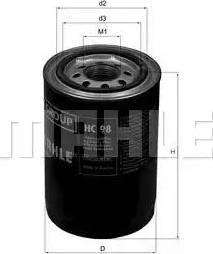 Mahle Original HC98 - Filtro, sistema hidráulico operador superrecambios.com