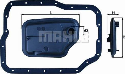 Mahle Original HX149D - Filtro hidráulico, transmisión automática superrecambios.com