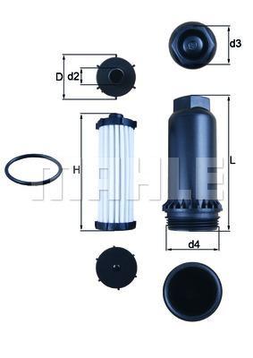 Mahle Original HX151KIT - Filtro hidráulico, transmisión automática superrecambios.com