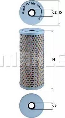 Mahle Original HX108 - Filtro hidráulico, dirección superrecambios.com