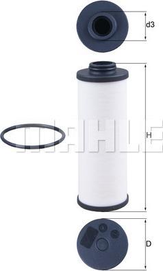 Mahle Original HX186D - Filtro hidráulico, transmisión automática superrecambios.com