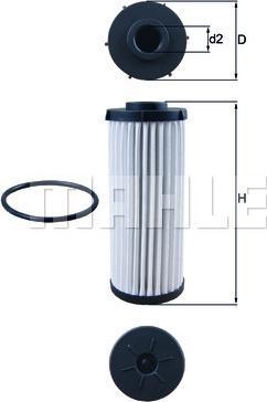 Mahle Original HX139D - Filtro hidráulico, transmisión automática superrecambios.com