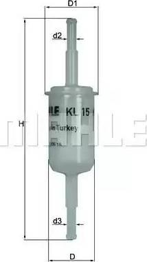 Mahle Original KL15OF - Filtro combustible superrecambios.com