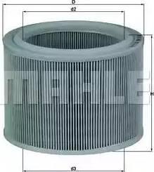 Mahle Original LX486 - Filtro de aire superrecambios.com
