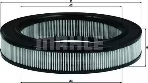 Mahle Original LX69 - Filtro de aire superrecambios.com