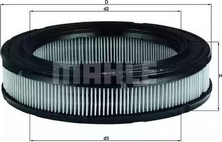 Mahle Original LX171 - Filtro de aire superrecambios.com