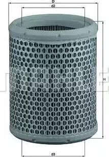 Mahle Original LX384 - Filtro de aire superrecambios.com