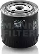 Mann-Filter W920/7 - Filtro, sistema hidráulico operador superrecambios.com