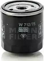 Mann-Filter W712/75 - Filtro de aceite superrecambios.com