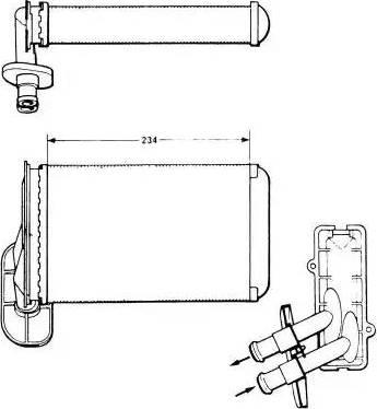 NRF 58622 - Radiador de calefacción superrecambios.com