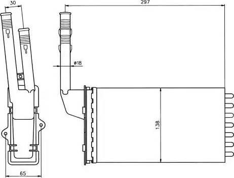 NRF 58064 - Radiador de calefacción superrecambios.com