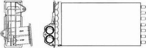 NRF 53634 - Radiador de calefacción superrecambios.com