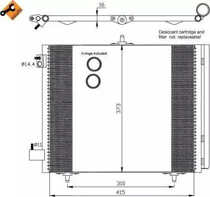 NRF 35405 - Condensador, aire acondicionado superrecambios.com