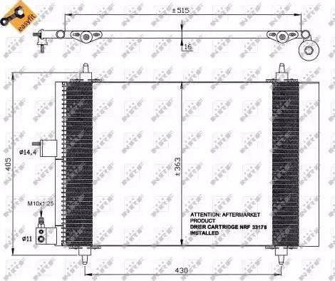 NRF 35414 - Condensador, aire acondicionado superrecambios.com