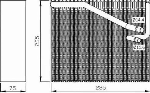 NRF 36081 - Evaporador, aire acondicionado superrecambios.com