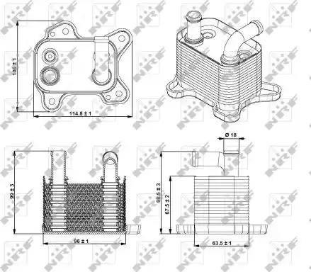 NRF 31342 - Radiador de aceite, transmisión automática superrecambios.com