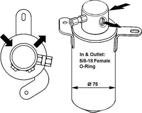 NRF 33166 - Filtro deshidratante, aire acondicionado superrecambios.com