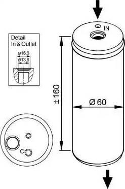 NRF 33114 - Filtro deshidratante, aire acondicionado superrecambios.com