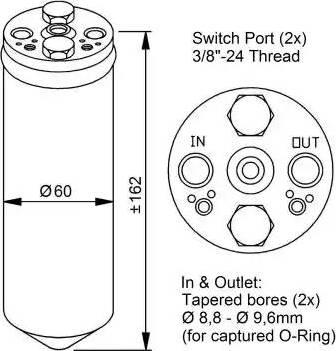 NRF 33183 - Filtro deshidratante, aire acondicionado superrecambios.com