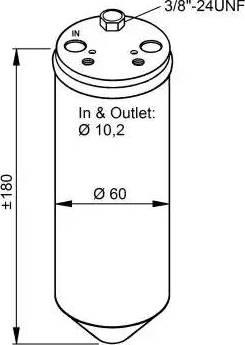 NRF 33319 - Filtro deshidratante, aire acondicionado superrecambios.com