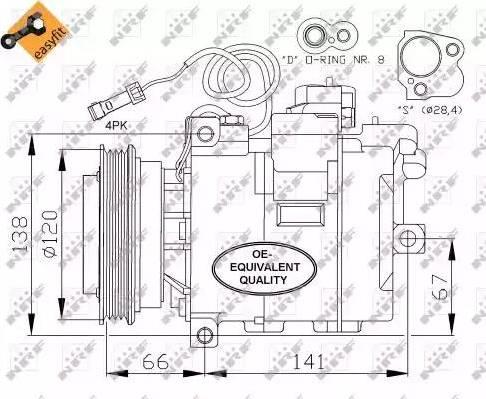 NRF 32104 - Compresor, aire acondicionado superrecambios.com