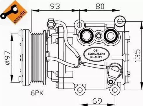 NRF 32247 - Compresor, aire acondicionado superrecambios.com