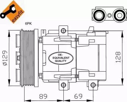 NRF 32212 - Compresor, aire acondicionado superrecambios.com