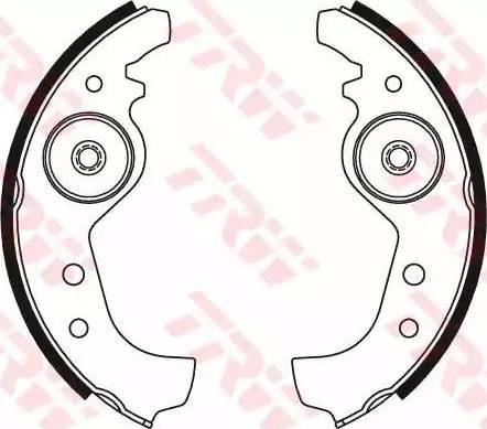 TRW GS8160 - Juego de frenos, frenos de tambor superrecambios.com