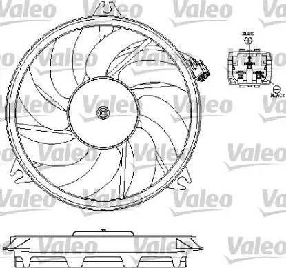 Valeo 696069 - Ventilador, refrigeración del motor superrecambios.com