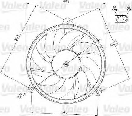 Valeo 696074 - Ventilador, refrigeración del motor superrecambios.com