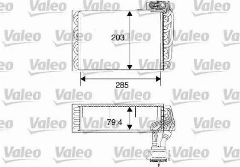 Valeo 817093 - Evaporador, aire acondicionado superrecambios.com