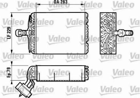 Valeo 817080 - Evaporador, aire acondicionado superrecambios.com