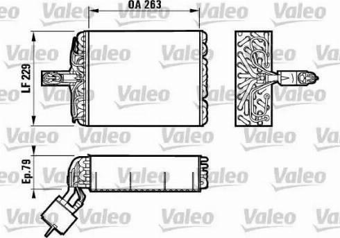 Valeo 817083 - Evaporador, aire acondicionado superrecambios.com