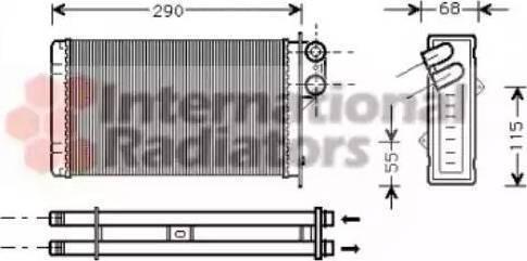 NRF 58629 - Radiador de calefacción superrecambios.com